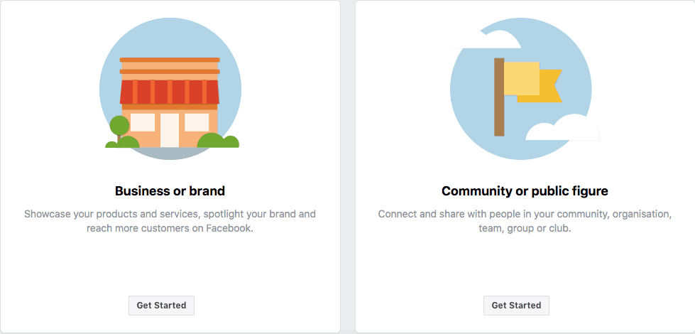 Step one on how to sign up for a Facebook Business page
