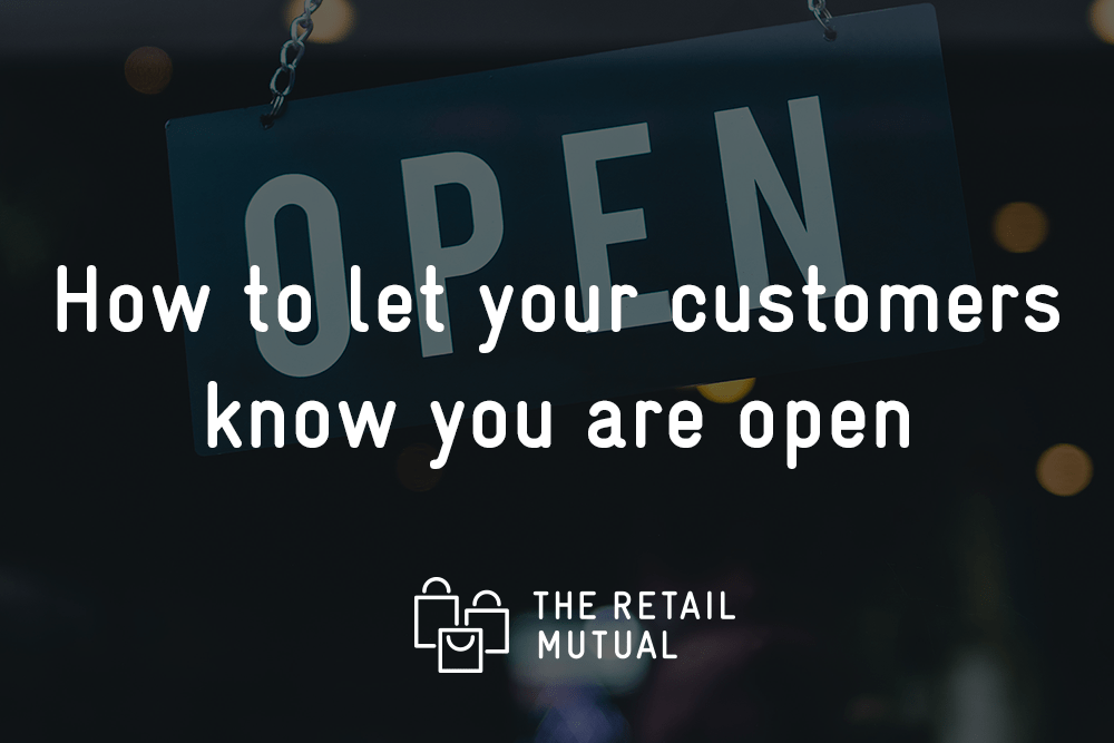 open sidn how to let your customers know you are open