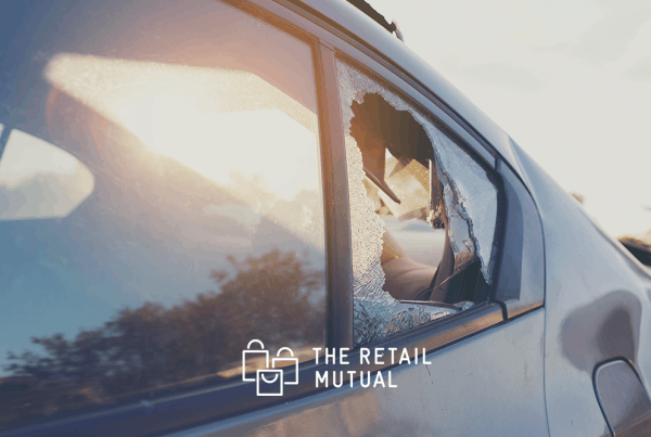 smashed rear car window