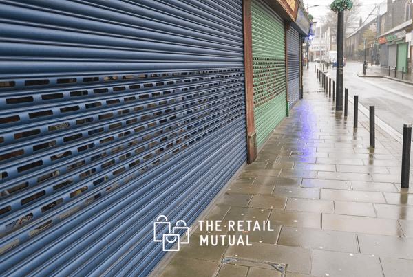 shuttered shops